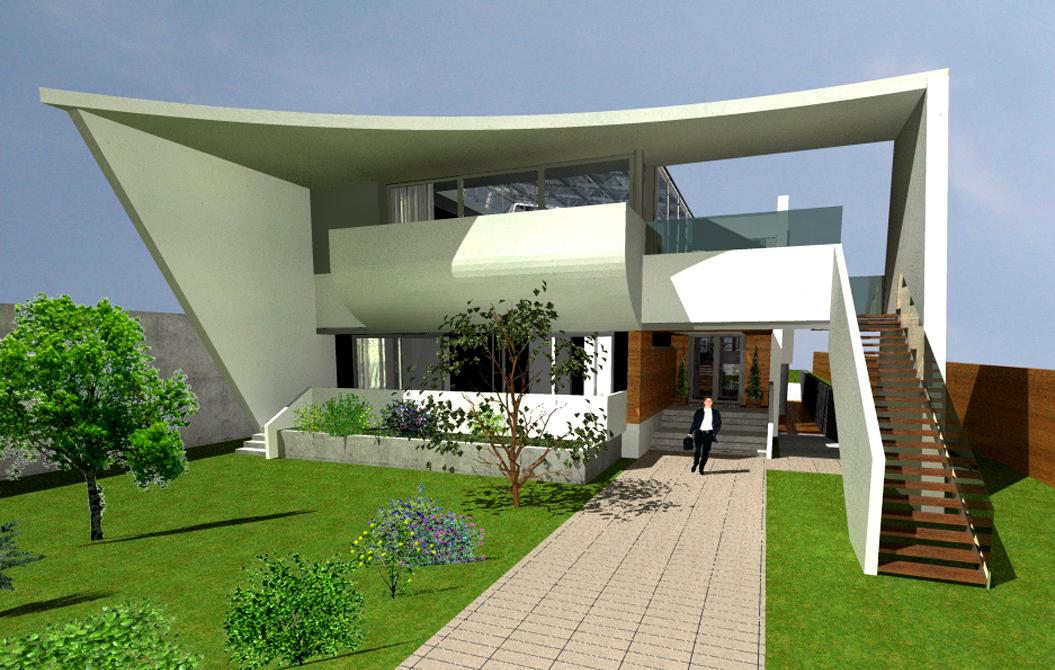 Contact studio portofoliu arhitectura for Casa moderna romania